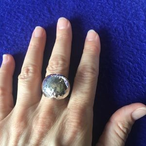 Sterling Silver disco ball style ring. Mexico
